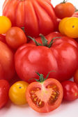 Assortment of differents variety of tomatoes — Stock Photo