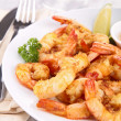 Plate of shrimp — Stock Photo
