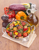 Casserole with grilled vegetables — Stock Photo