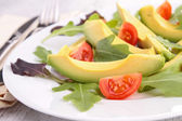 Salad with avocado and cherry tomato — Stock Photo