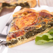Royalty-Free Stock Photo: Slice of spinach quiche