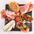 Stock Photo: Assorted of bruschetta
