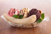 Banana split — Stock Photo