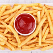 Stock Photo: French fries and ketchup