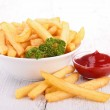 French fries and ketchup — Stock Photo #24970239