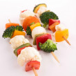 Stock Photo: Vegetable skewer