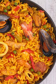Close up on paella — Stock Photo