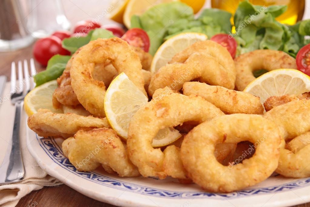 Download - Fried calamari rings — Stock Image #24973399