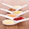 Stock Photo: Assortment of condiment