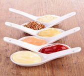 Assortment of condiment — Stock Photo