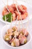 Antipasto pancetta avvolto — Foto Stock