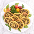Pesto sauce pinwheel — Stock Photo