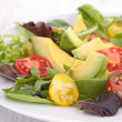 Avocado salad and tomato — Stock Photo #25478625