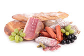 Meat and bread — Stock Photo