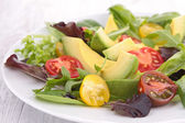 Avocado salad and tomato — Stock Photo