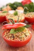 Provencal tomato and ingredients — Stock Photo