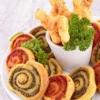 Stock Photo: Assortment of finger food