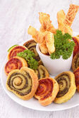 Assortment of finger food — Stock Photo