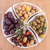 Assorted of olives — Stock Photo