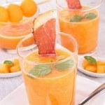Melon gazpacho and prosciutto — Stock Photo #26349641
