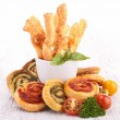 Finger food appetizer — Stock Photo
