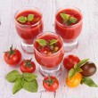 Tomato gazpacho soup — Stock Photo