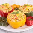 Stock Photo: Stuffed pepper