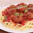 Spaghetti and meatball — Stock Photo #26875153