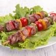 Grilled meat and vegetables — Stock Photo