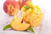Peach salad — Stock Photo