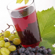 Stock Photo: Grape juice isolated