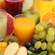 Stock Photo: Group of fruit juice