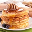 Pancake with honey — Foto de Stock