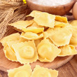 Raw ravioli — Stock Photo
