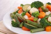 板的蔬菜 — 图库照片