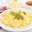 Ravioli and tomato sauce — Stock Photo #28198825