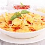 Ravioli and tomato sauce — Stock Photo #28198889
