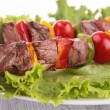 Roasted meat kebab — Stock Photo