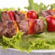 Stock Photo: Roasted meat kebab