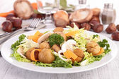 Salad with mushroom and chestnut — Stock Photo