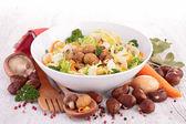 Chestnu salad — Stock Photo