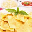 Ravioli and basil — Stock Photo #28347375