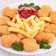 Chicken nuggets — Stock Photo #28456707
