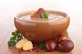 Chestnut soup — Stock Photo