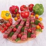 Raw beef kebab — Stock Photo #28865435