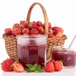 Stock Photo: Strawberry jam