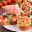 Stock Photo: Tasty bruschetta