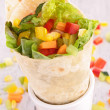 Tortilla wrap with vegetable — Stock Photo