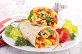 Vegetable sandwich wrap — Stock Photo