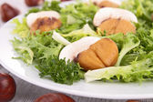 Salad with chestnut and mushroom — Stock Photo
